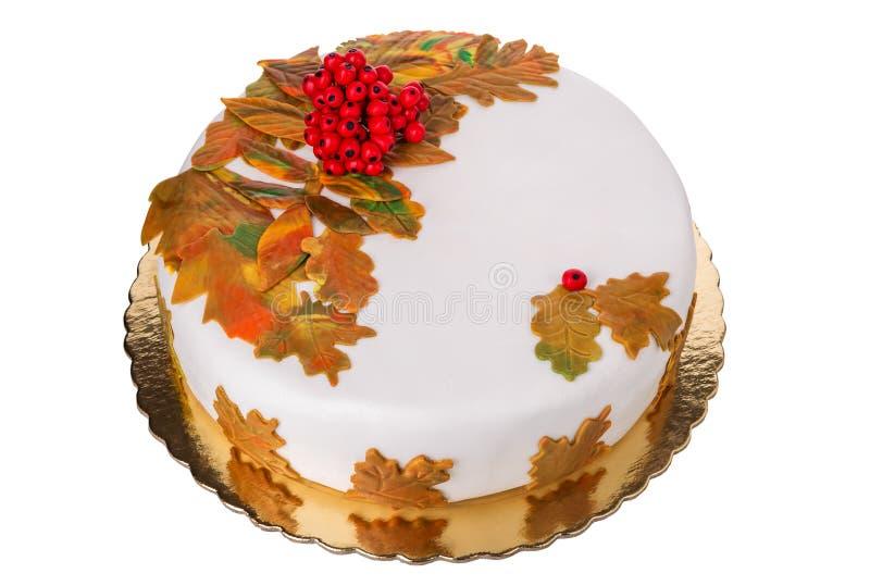 Autumn Birthday Cake Beautiful Delicious Stock Photo Image of