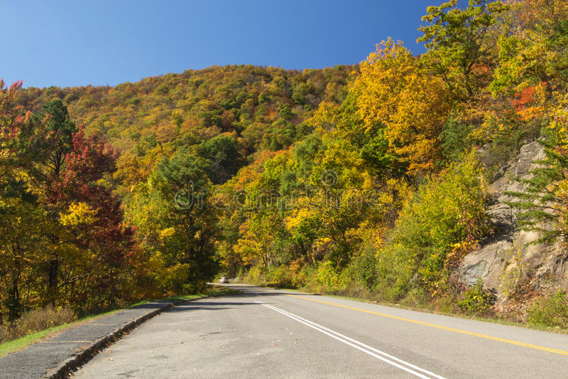 Autumn on the Blue Ridge Parkway stock images