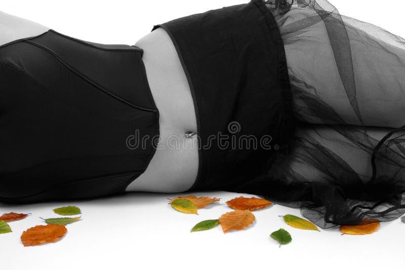 Download Autumn Blues stock image. Image of love, female, leaf, model - 63059