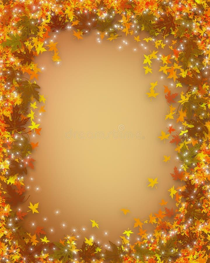 autumn border fall thanksgiving ελεύθερη απεικόνιση δικαιώματος