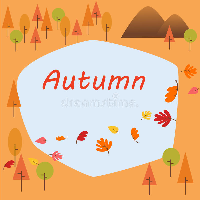Autumn border royalty free stock photos