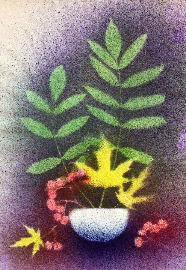 Download Autumn bouquet stock photo. Image of vase, bunch, watercolor - 28512082