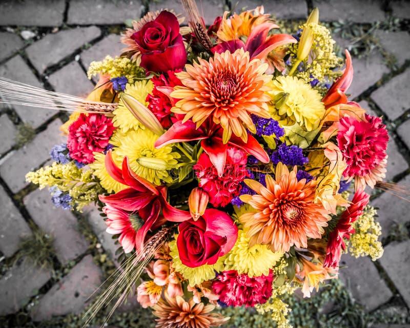 Autumn Bouquet. Pretty Autumn colors flower bouquet royalty free stock images