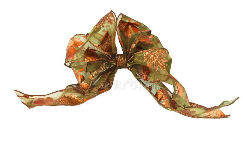 Autumn Bow. Isolated on a white background stock photos