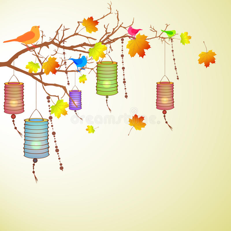 Download Autumn branch stock illustration. Image of culture, japanese - 21344834