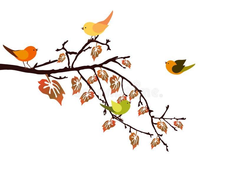 Autumn branch vector illustration