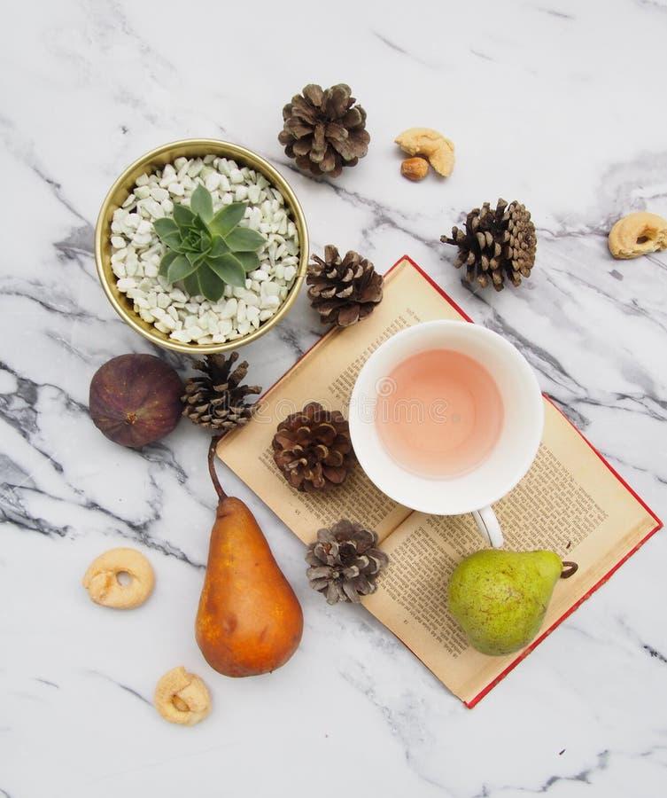 An autumn breakfast stock photography