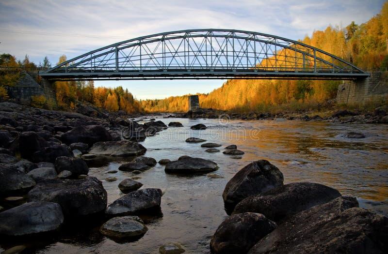 Autumn bridge stock photos