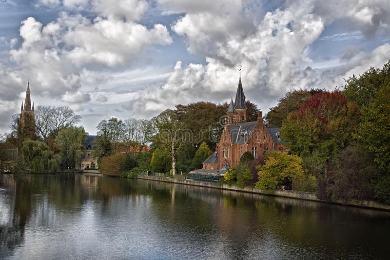 Autumn in Bruges royalty free stock images