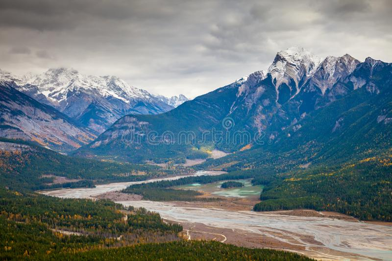 Autumn in the Canadian Rocky Mountains of British Columbia royalty free stock image