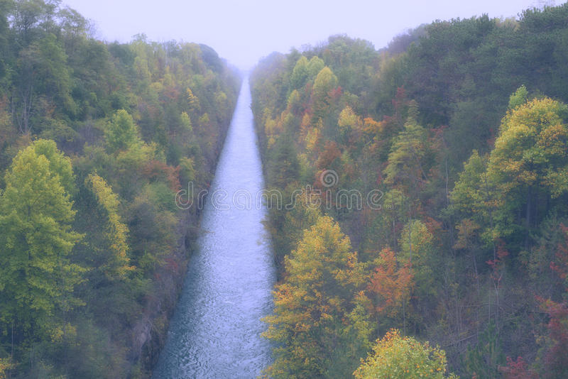 Autumn canal royalty free stock image