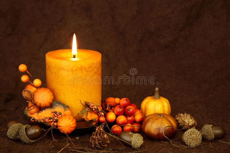 Download Autumn Candle Stock Photography - Image: 15456292