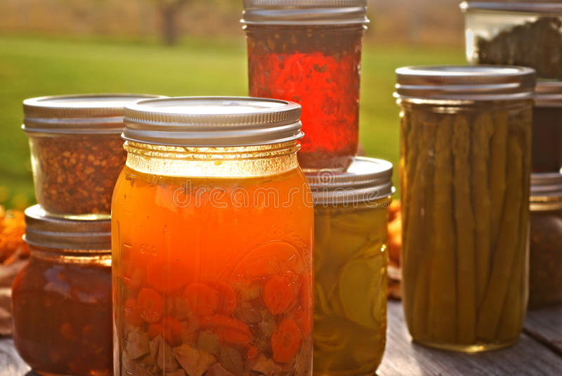 Autumn Canned Goods photo stock