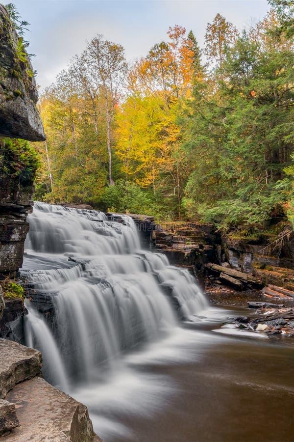Autumn Canyon Falls imagens de stock