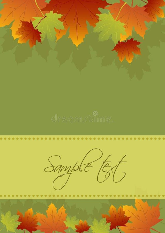 Autumn card background royalty free illustration