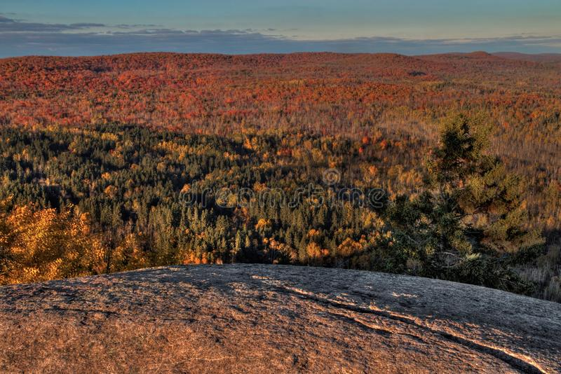 Autumn at Carlton Peak of the Sawtooth Mountains in Northern Minnesota on the North Shore of Lake Superior.  royalty free stock images
