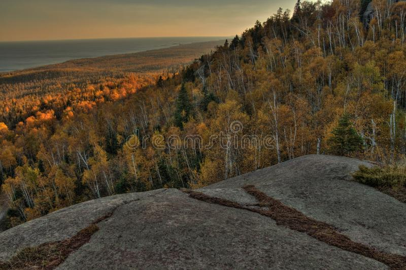 Autumn at Carlton Peak of the Sawtooth Mountains in Northern Minnesota on the North Shore of Lake Superior.  stock photos