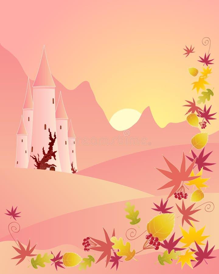 Autumn castle vector illustration