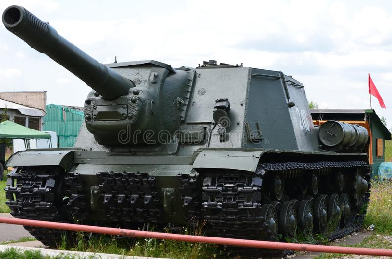 Soviet heavy self-propelled artillery su 152. In the autumn of 1942 at the Chelyabinsk Kirov plant designers led by Troyanov Ls created a self-propelled su 152 stock image