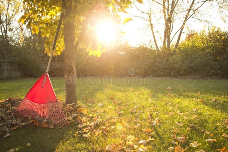 Autumn Chores foto de archivo libre de regalías