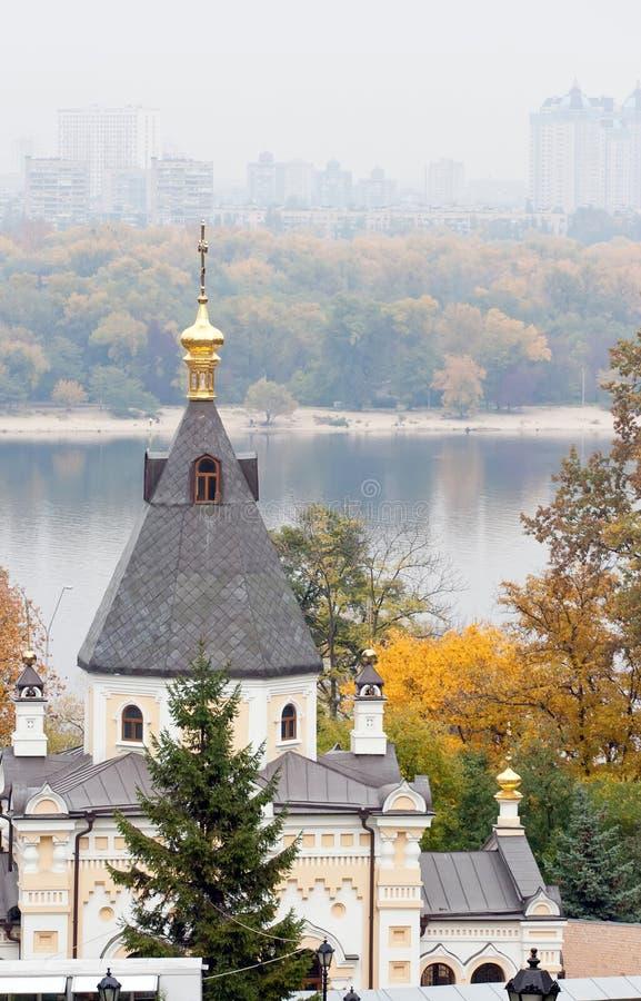 Autumn church royalty free stock photo