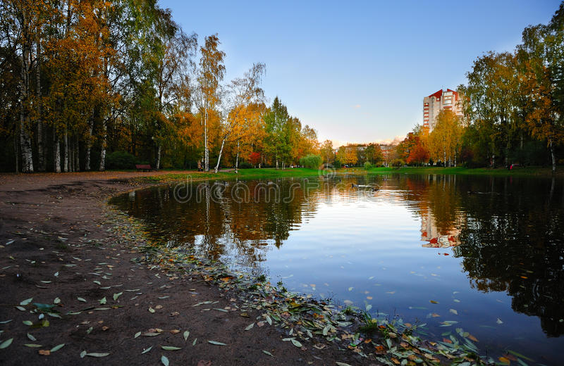 Download Autumn in the city stock photo. Image of water, colorful - 21755758