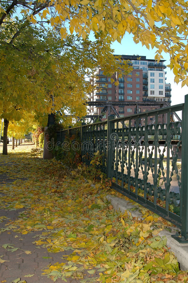 Download Autumn In the City stock photo. Image of trestle, sidewalk - 286288