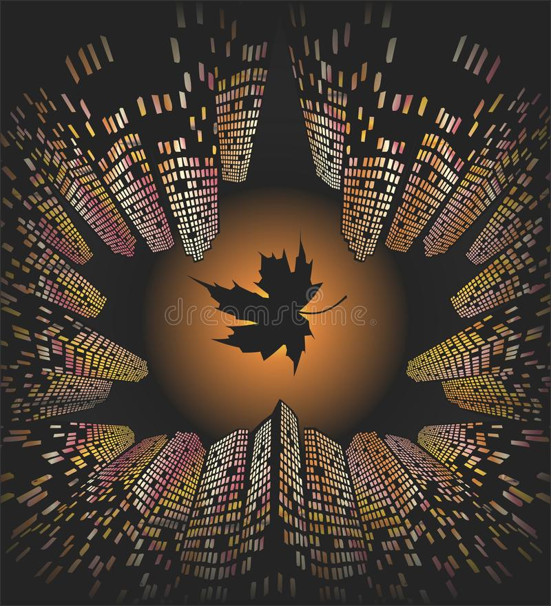 Autumn in the city. vector illustration