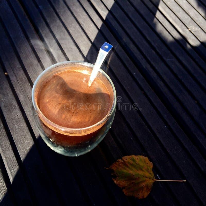 Autumn Coffee fotografia stock libera da diritti