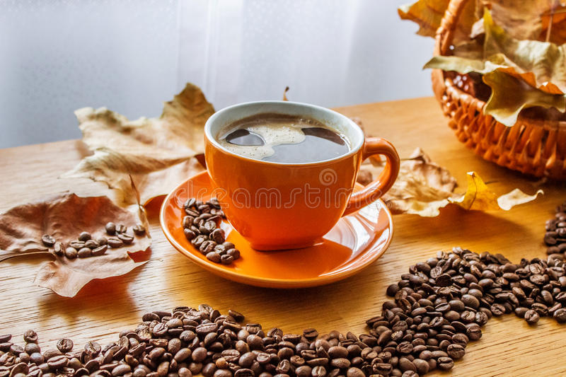 Autumn Coffee lizenzfreies stockfoto