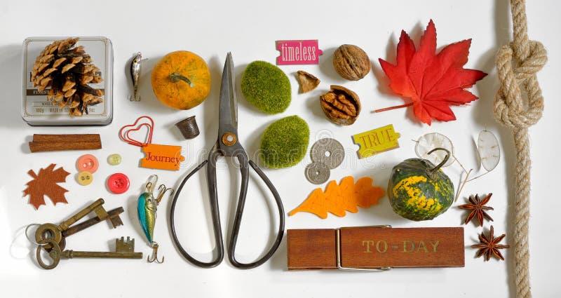 Autumn Collection Mockup-voorwerpen royalty-vrije stock afbeeldingen