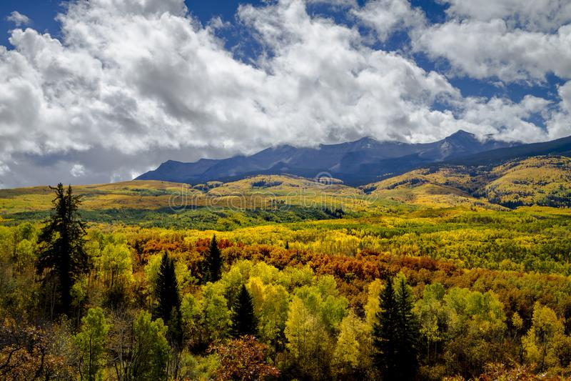Autumn Color em San Juan e Rocky Mountains de Colorado imagens de stock royalty free