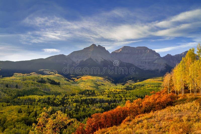 Autumn Color i San Juan och Rocky Mountains av Colorado royaltyfri foto