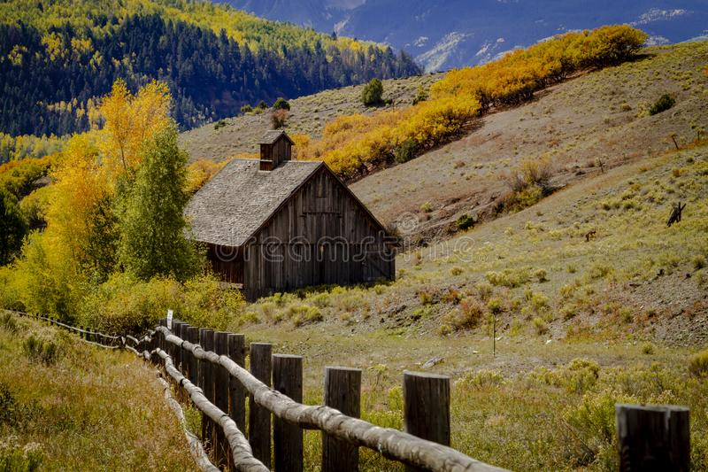 Autumn Color in San Juan and Rocky Mountains of Colorado royalty free stock photography