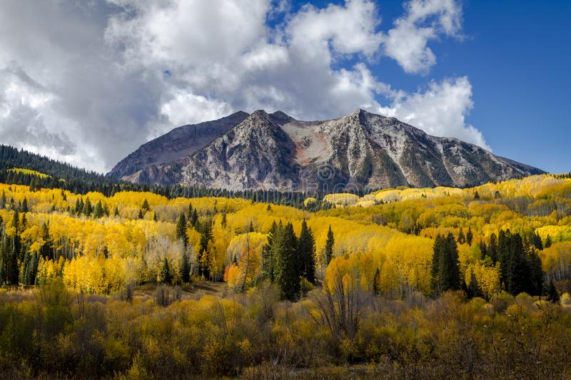 Autumn Color in San Juan and Rocky Mountains of Colorado stock images