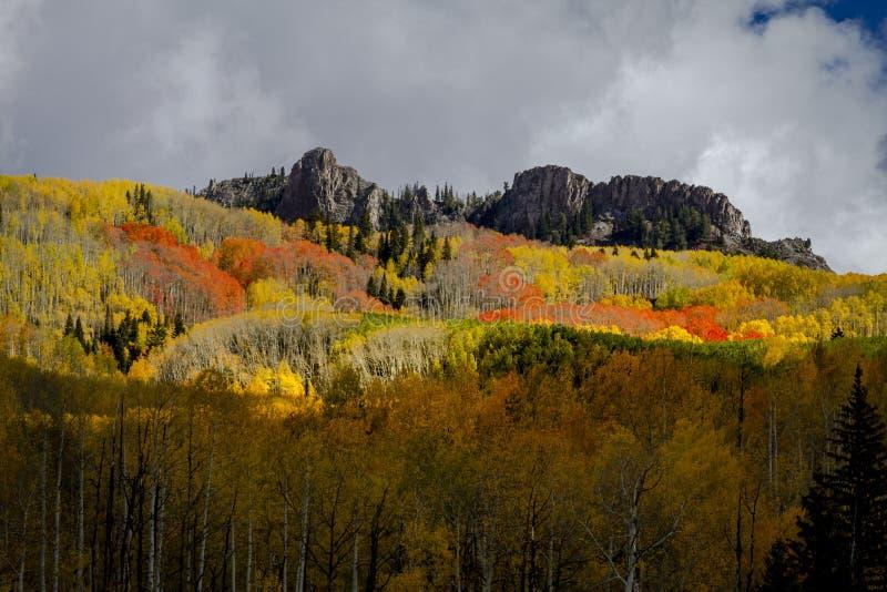 Autumn Color in San Juan and Rocky Mountains of Colorado stock photo
