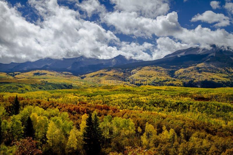 Autumn Color in San Juan and Rocky Mountains of Colorado stock photography