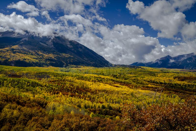 Autumn Color in San Juan and Rocky Mountains of Colorado stock image