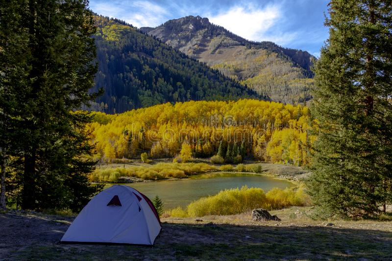 Autumn Color in San Juan und Rocky Mountains von Colorado lizenzfreies stockfoto
