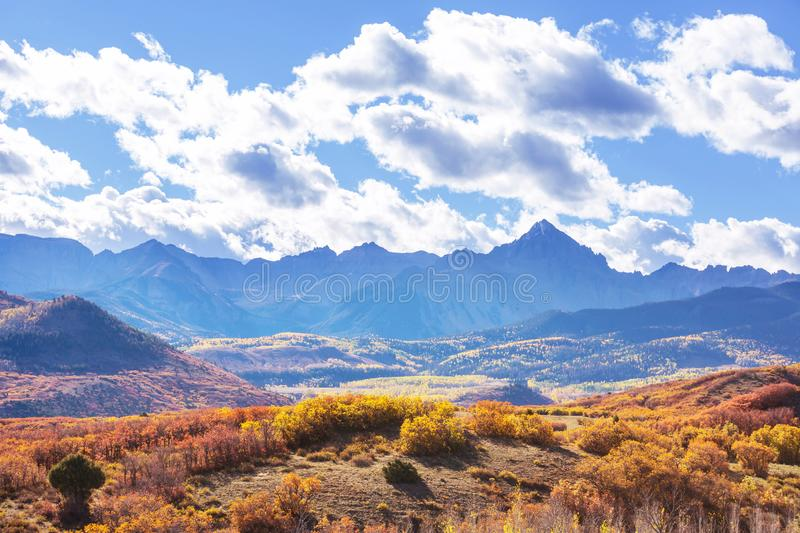 Autumn in Colorado. Colorful yellow autumn in Colorado, United States. Fall season stock image