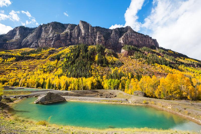 Autumn in Colorado. Colorful yellow autumn in Colorado, United States. Fall season stock images