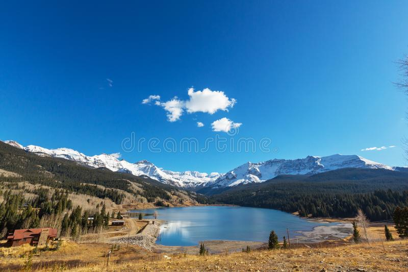 Autumn in Colorado. Colorful yellow autumn in Colorado, United States. Fall season stock photography