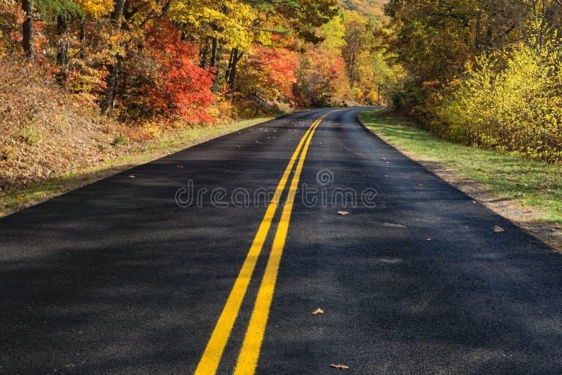 Autumn Colors on the Blue Ridge Parkway, Virginia, USA royalty free stock image
