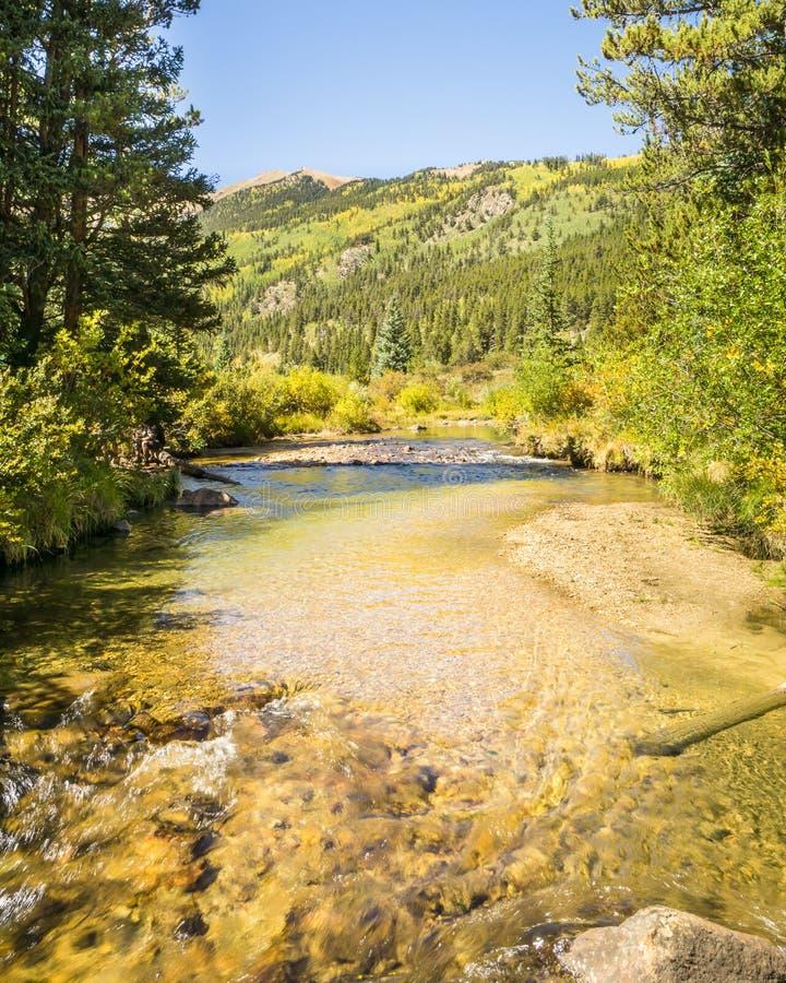 Autumn Colors, crique de pin, région sauvage collégiale de crêtes, Pike et photographie stock