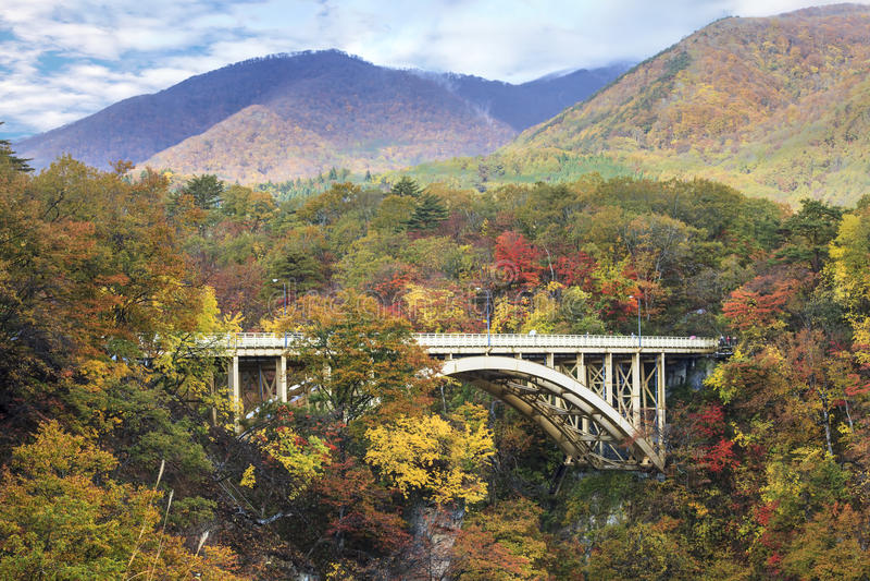 Autumn Colors de Naruko-gorge au Japon images stock