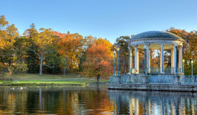 Autumn Colors gazebo stock image