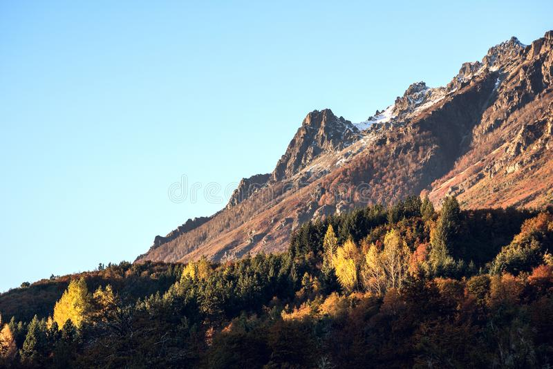 Autumn Colors in Gr Bolson, Argentinië stock afbeeldingen
