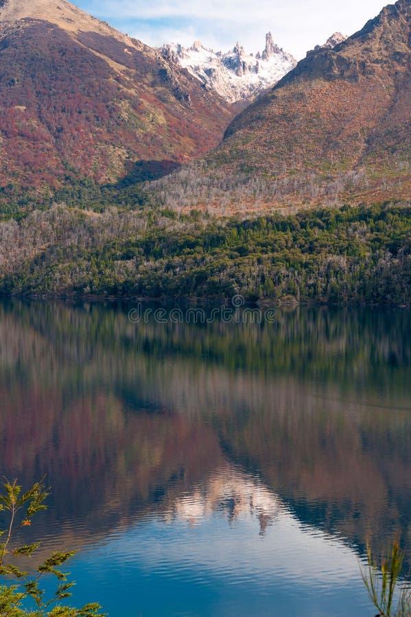 Autumn Colors im See Gutiérrez, Patagonia stockfotografie