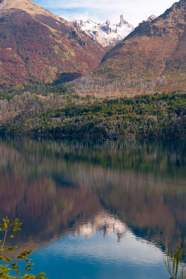 Autumn Colors no lago Gutiérrez, Patagonia fotografia de stock