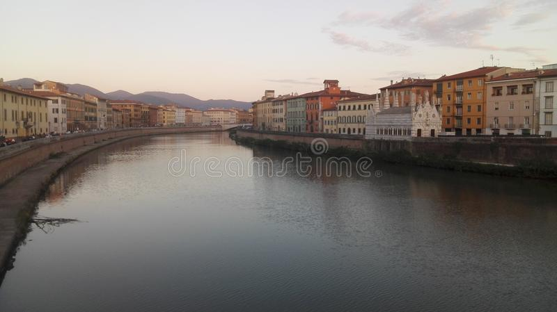 Autumn colors in Pisa royalty free stock images